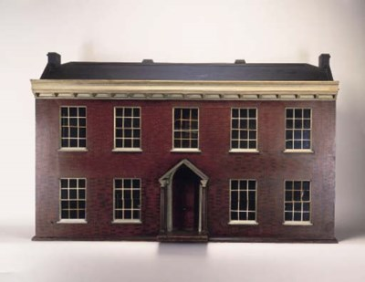 A wood dolls' house from Scotl