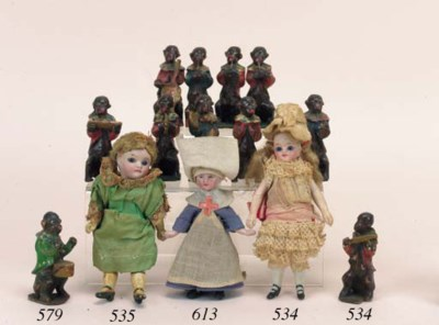 An all-bisque dolls' house dol