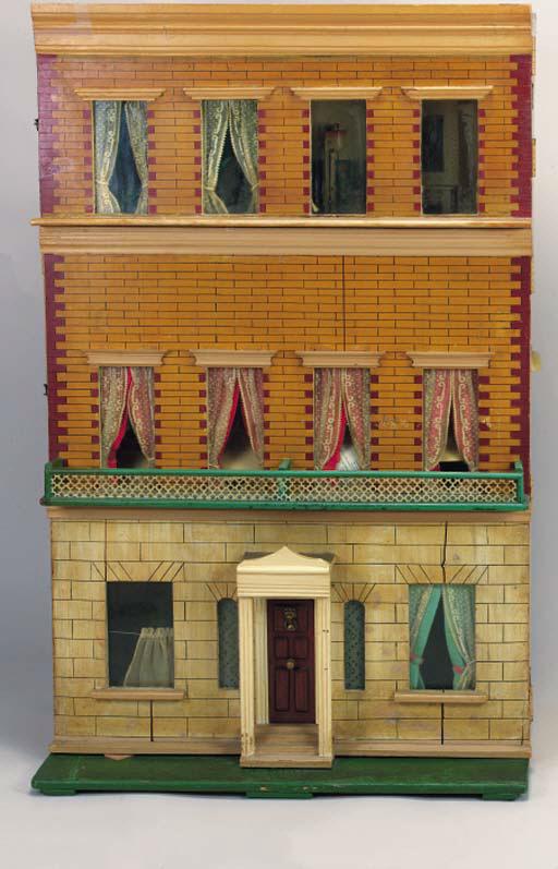 A box-back dolls' house
