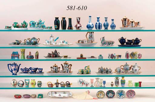 Four miniature Satsuma vases a