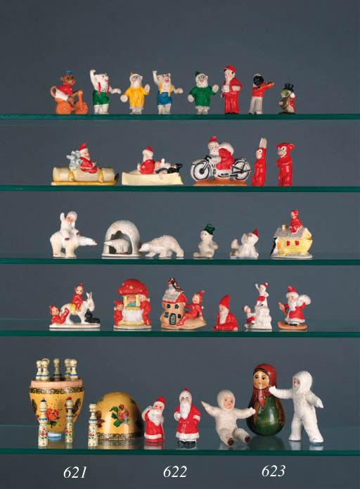 A quantity of bisque figures o