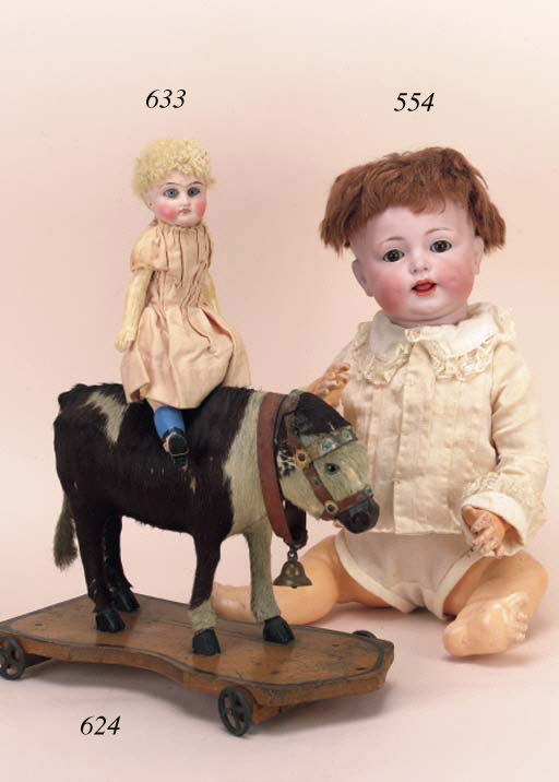 A flange neck child doll