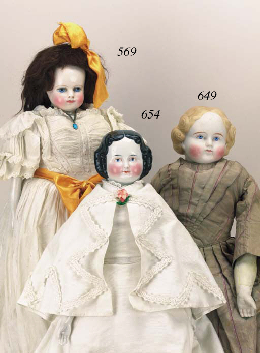 A bisque shoulder-headed doll