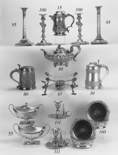 A George II gilt lined tankard