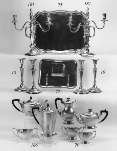 A modern four piece tea servic