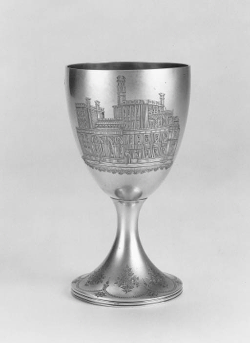 A Victorian wine goblet,