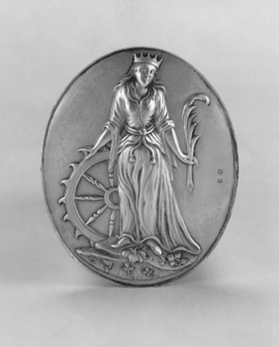A George III oval arm badge,
