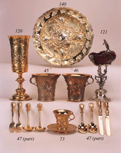 A Victorian silver-gilt electr
