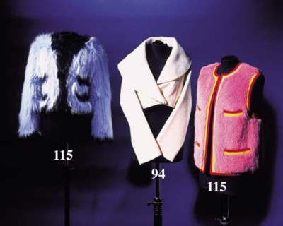 A bolero jacket, of ivory stre