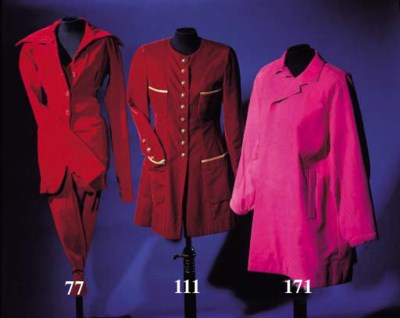 A long fitted jacket, of burgu