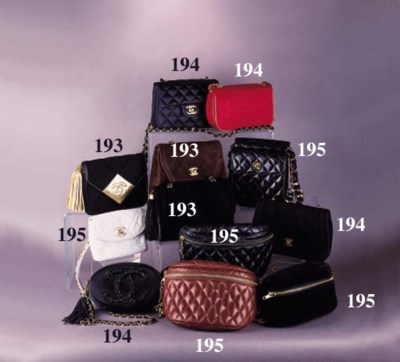 A shaped handbag of quilted br