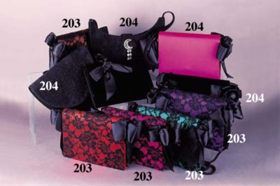 A collection of evening bags i