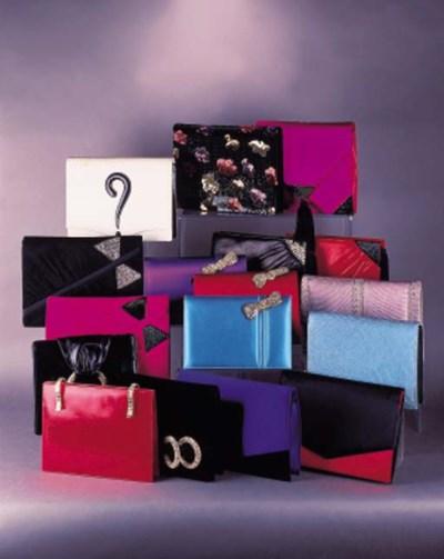 An evening clutch bag in spec