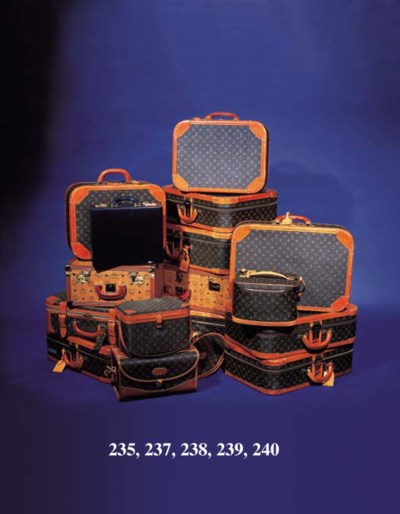 A suitcase covered in MCM mono