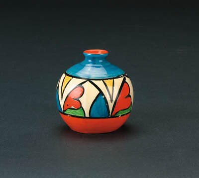 'Double V' a miniature vase