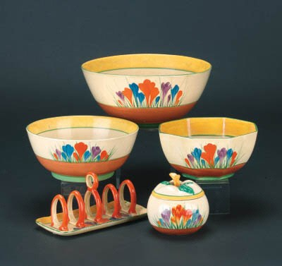 'Crocus' three bowls