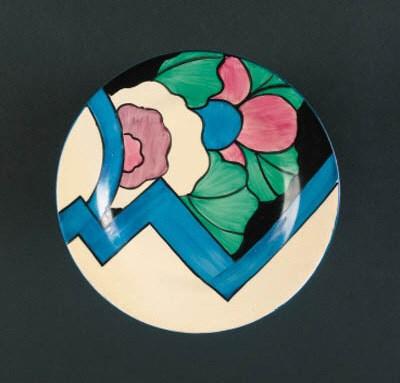 'Latona Blue Dahlia' a plate