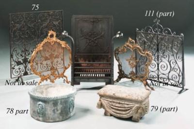 A decorative cast metal firesc