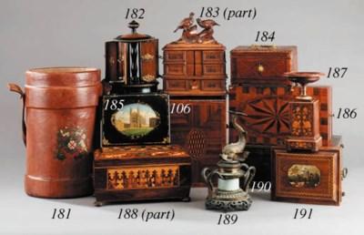 A Regency rosewood work box, f