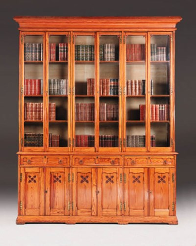 A Victorian pitch pine library