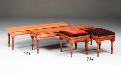 Three Victorian oak benches