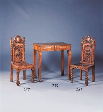 A set of six late Victorian oa