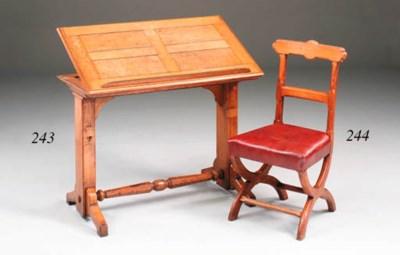 A Victorian oak reading table