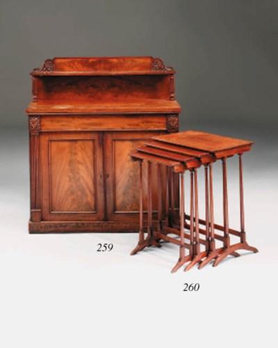 A George IV mahogany chiffonie