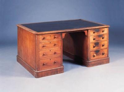 A Victorian mahogany partners