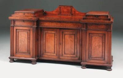 A George IV mahogany sideboard