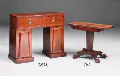 A Scottish mahogany secretaire