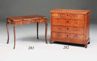 A French kingwood, parquetry a