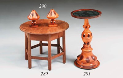 An oysterwood occasional table