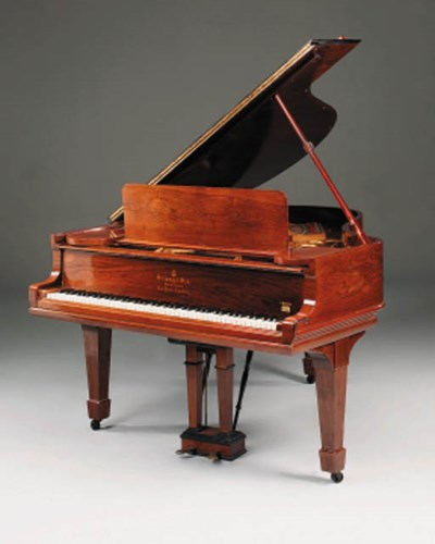 A Steinway baby grand piano, e