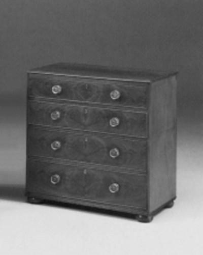 A mahogany chest, early 19th c