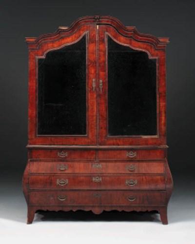A Dutch mahogany side cabinet,