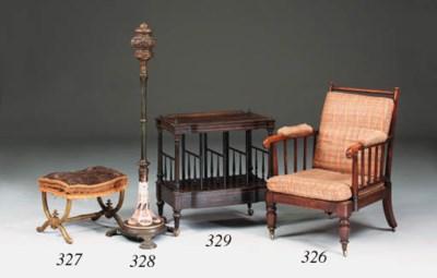 A Victorian calamander and thu