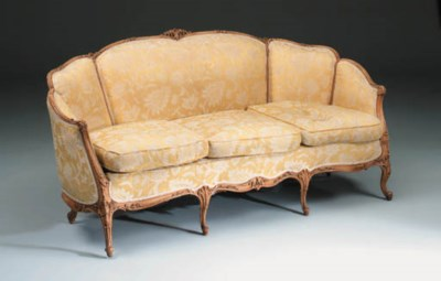 A pale yellow painted Louis XV
