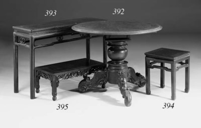 A Chinese rosewood low table,