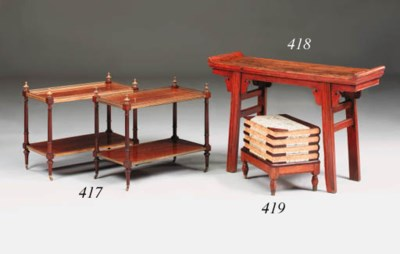 A Chinese red-lacquered side t