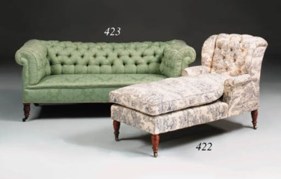 A Chesterfield sofa, late 19th