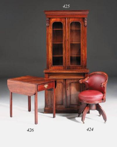 A Napoleon III mahogany desk c