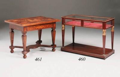 A mahogany and parcel-gilt vit