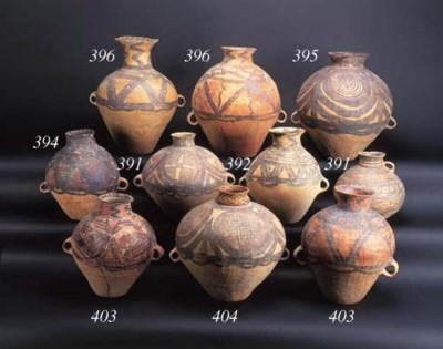 Two Neolithic globular pottery