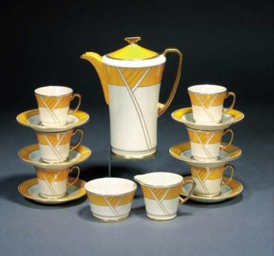 A Crown Devon Art Deco coffee