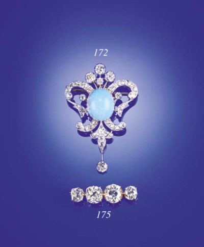 A diamond four stone brooch,