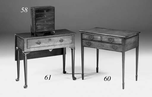 A miniature mahogany chest of