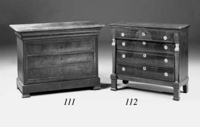 A French mahogany, brass-bound