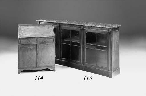 A mahogany dwarf bookcase, lat