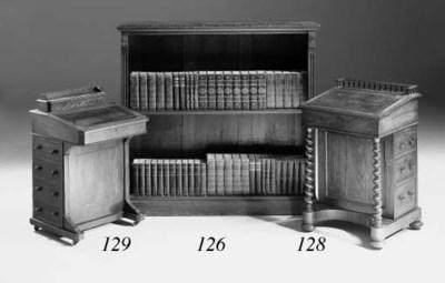 A mahogany dwarf open bookcase